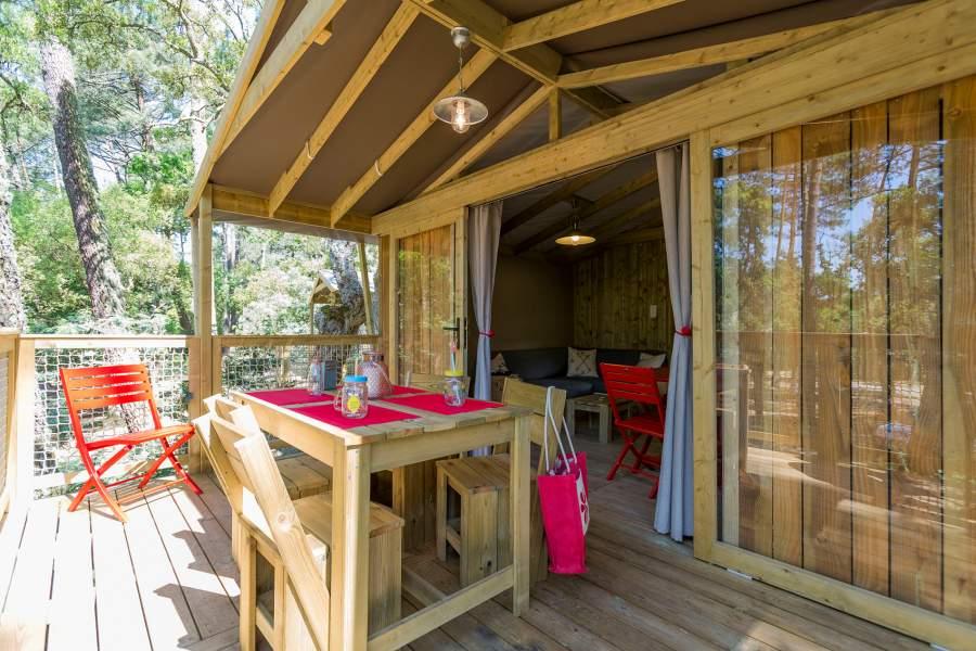 Vacances en camping dans un Lodge confortable